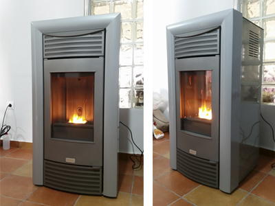 Instalar estufa pellets en piso simple perfect estufa pellet ketty etxarri aranatz with - Se puede poner una chimenea de pellets en un piso ...