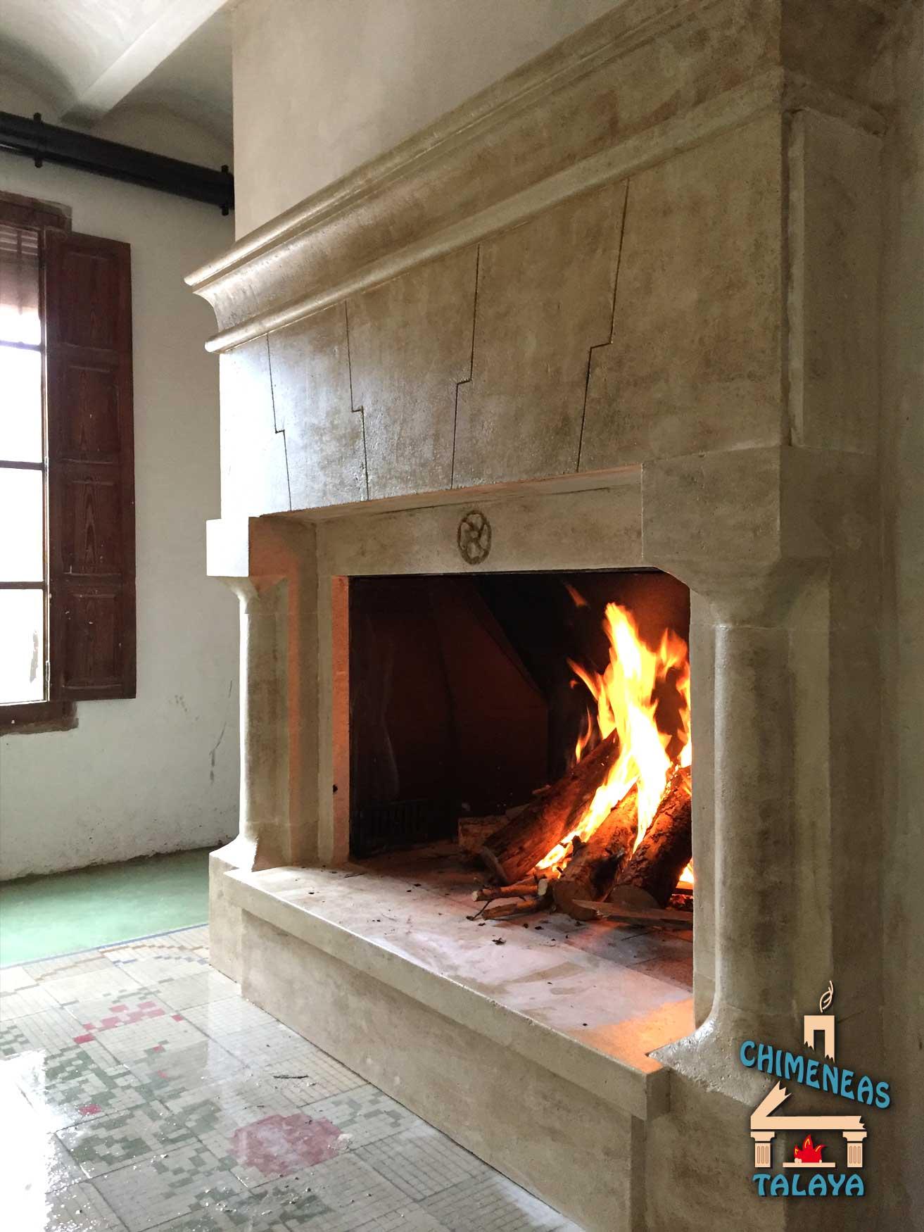 Chimeneas abiertas Sistemas de calefaccin Biomasa Chimeneas Talaya
