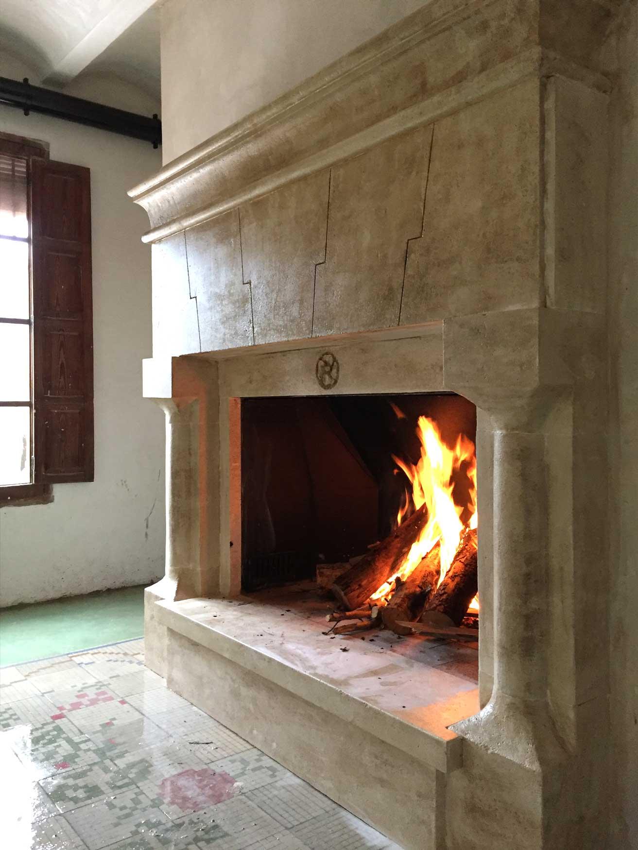 Chimeneas de lea madrid chimeneas rusticas de ladrillo for Chimeneas electricas baratas