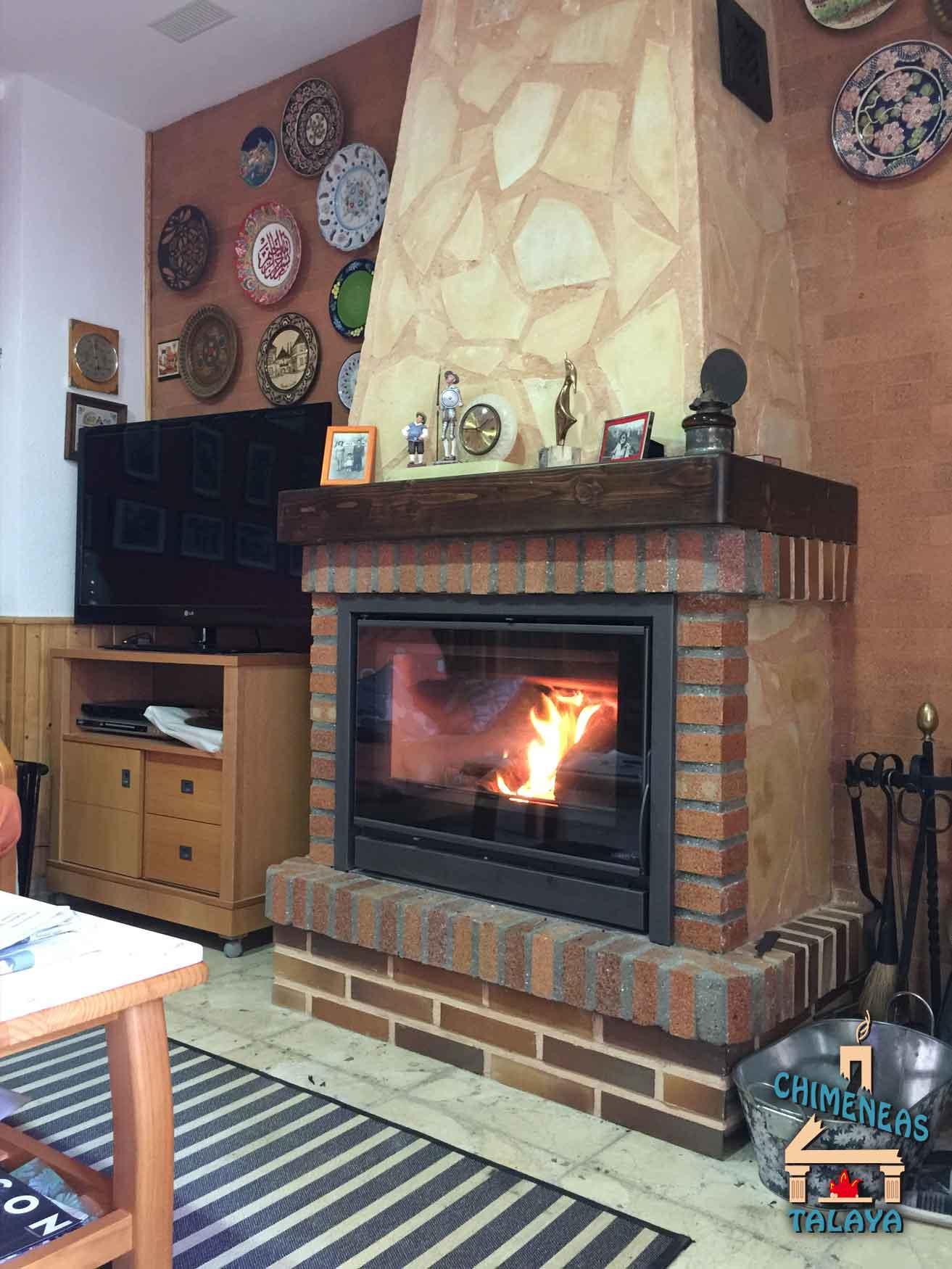 Chimeneas abiertas sistemas de calefacci n biomasa - Chimeneas de pelets ...