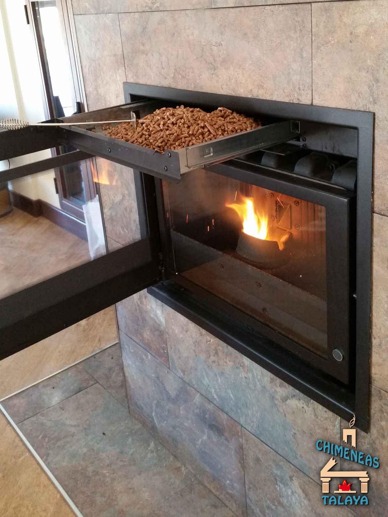 Chimeneas abiertas sistemas de calefacci n biomasa - Chimeneas de peles ...