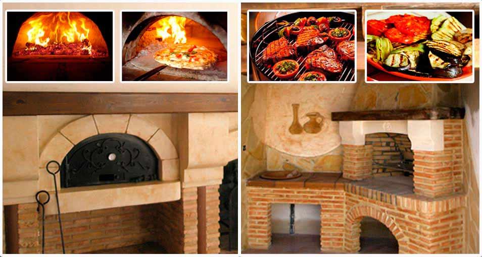 Chimeneas abiertas sistemas de calefacci n biomasa - Barbacoas y hornos ...